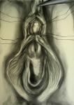 My worst case scenario, by Nooshin Rostami,  2010-11, Charcoal Pencil, 3'x4'