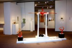 "Menses II, by Paedra Bramhall, 2005, glass with mirrors and pvc on wood base, 130"" x 84"" x 30"" (330.20 x 213.36 x 76.20 cm)"