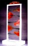 "Penetration, by Paedra Bramhall, glass with pvc on wood base, 36"" x 96"" x 22"" (91.44 x 243.84 x 55.88 cm)"